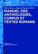 Manuel Des Anthologies  Corpus Et Textes Romans PDF