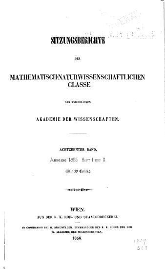 Sitzungsberichte der Mathematisch Naturwissenschaftliche Classe PDF