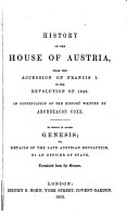 History of the House of Austria  from the Foundation of the Monarchy PDF