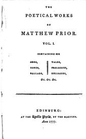 The Poetical Works of Matthew Prior: Volumes 47-48