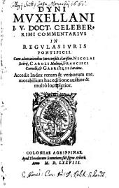 Commentarius in regulas iuris Pontificii
