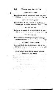 Bibliothèque universelle des sciences, belles-lettres et arts. Sciences et arts