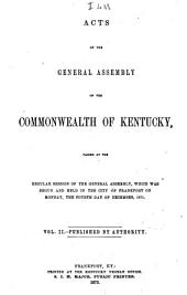 Acts of the General Assembly of the Commonwealth of Kentucky: Volume 2