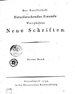 Der Gesellschaft Naturforschender Freunde Westphalens Neue Schriften PDF