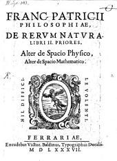 Philosophiae de rerum natura libri 2 priores