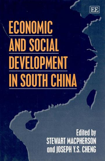 Economic and Social Development in South China PDF