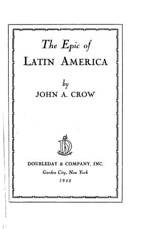 The Epic of Latin America PDF