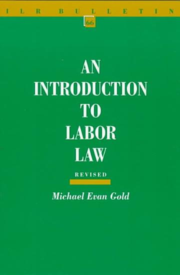 An Introduction to Labor Law PDF
