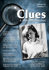Clues: A Journal of Detection, Vol. 33, No. 2 (Fall 2015): A Journal of Detection, Vol. 33, No. 2