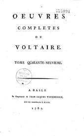 Oeuvres complètes de Voltaire: Volume50