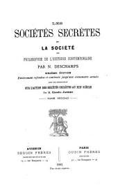 Les sociétés secrètes et la société: ou philosophie de l'histoire contemporaine