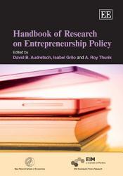 Handbook of Research on Entrepreneurship Policy PDF