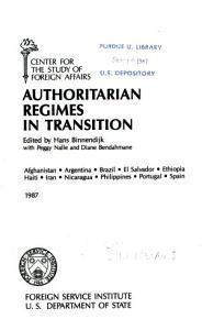 Authoritarian Regimes in Transition PDF