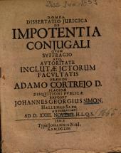 Dissertatio Iuridica De Impotentia Coniugali