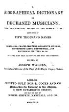 A Biographical Dictionary of deceased Musicians PDF