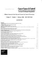 Cancer Causes   Control PDF