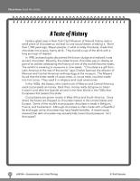 Test Prep Level 6  A Taste of History Comprehension and Critical Thinking PDF