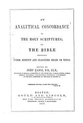 An Analytical Concordance To The Holy Scriptures Book PDF