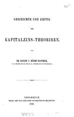 Kapital und Kapitalzins PDF
