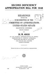 Second Deficiency Appropriation Bill for 1948 PDF