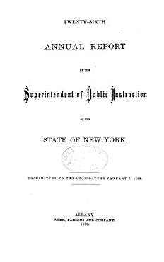 Annual Report of the Superintendent of Public Instruction  of the State of New York PDF