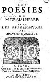 Les poésies de m. de Malherbe