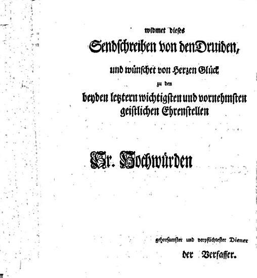 Sendschreiben  darinnen die Frage untersucht wird  ob die Druiden gute Lateiner gewesen seyn  PDF
