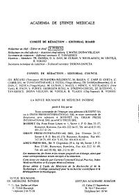 Romanian Journal of Internal Medicine