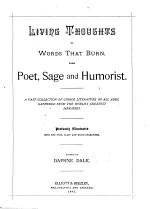 Living Thoughts in Words that Burn, from Poet, Sage and Humorist