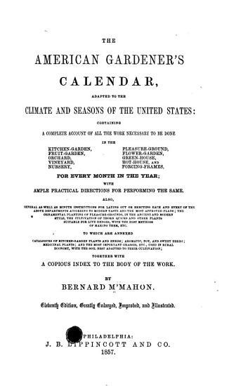The American Gardener s Calendar PDF