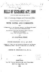The Bills of Exchange Act, 1890: An Act to Codify the Laws Relating to Bills of Exchange, Cheques and Promissory Notes ..., Part 33