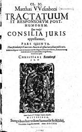 Responsorvm ivris, quae uulgò consilia appellantur: Volumes 5-6