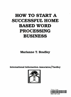 How to Start a Successful Home Based Word Processing Business PDF