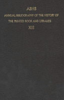 ABHB Annual Bibliography of the History of the Printed Book and Libraries PDF