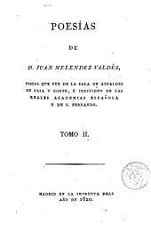 Poesías de D. Juan Melendez Valdés