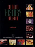 Cultural History of India PDF