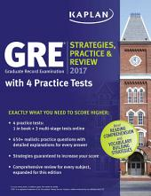 GRE 2017 Strategies, Practice & Review with 4 Practice Tests: Online + Book