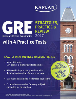 GRE 2017 Strategies  Practice   Review with 4 Practice Tests PDF