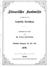 Literarischer Handweiser zunächst für alle katholische Deutschland: Band 17,Ausgaben 219-236