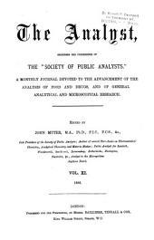 The Analyst: Volume 11