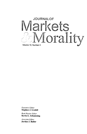 The Journal of Markets & Morality