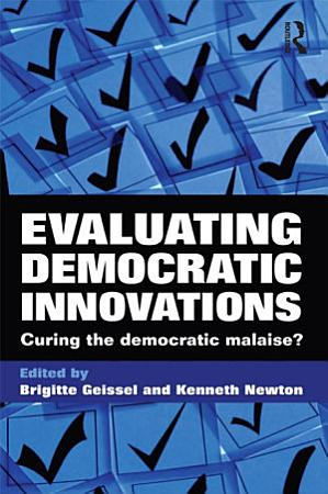 Evaluating Democratic Innovations PDF