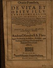 Andr. Osiandri Oratio funebris de vita et obitu Friderici ducis Würtembergensis