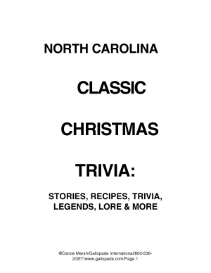 North Carolina Classic Christmas Trivia PDF