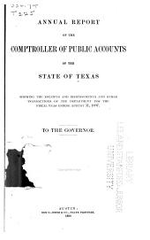 Report of the Comptroller of Public Accounts