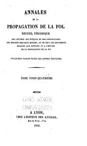 Annales de la propagation de la foi: Volume24