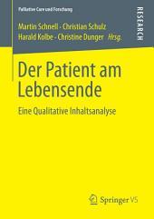 Der Patient am Lebensende: Eine Qualitative Inhaltsanalyse