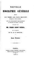 Nouvelle biographie universelle  afterw   g  n  rale  publ  sous la direction de m  le dr  Hoefer PDF