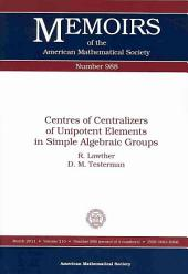 Centres of Centralizers of Unipotent Elements in Simple Algebraic Groups