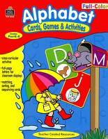 Full Color Cards  Games and Activities   Alphabet PDF